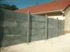 Une clôture béton