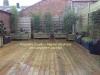 Décoration sur une terrasse bois sur toiture