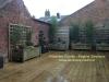 jardinière sur une terrasse en bois