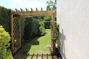 terrasse pergola abri bois jardinière